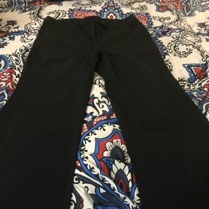 Plus size Fashion Bug black flare stretch pants